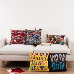 (EU Lager)Kissenhülle Modern Graffiti Buchstaben Design