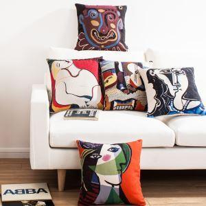 (EU Lager) Kissenhülle Leinen Picasso Gemälde Muster
