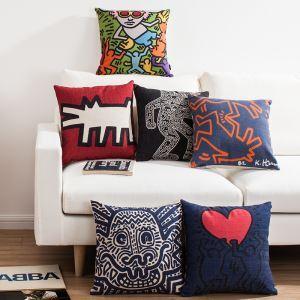 (EU Lager)Kissenhülle Leinen Keith Haring Bilder