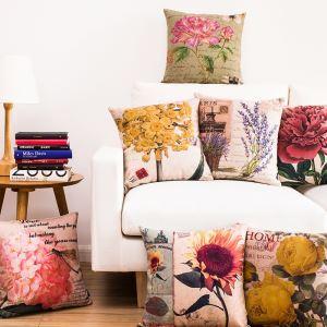 (EU Lager)Kissenhülle Landhaus Blüte Serie