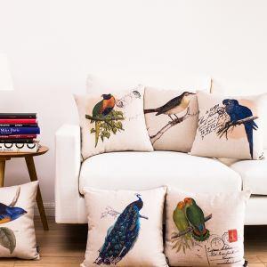 (EU Lager) Kissenhülle Landhaus Vögel Serie