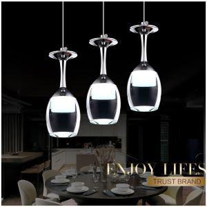 (EU Lager)LED Pendelleuchte Weinglas Design 3-flammig