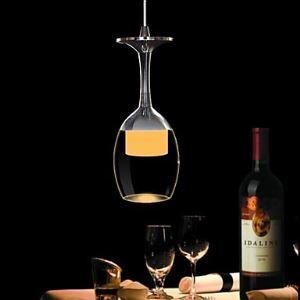 (EU Lager)LED Pendelleuchte Weinglas-Design