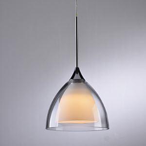 (EU Lager)LED Pendelleuchte Modern Glas Schirm