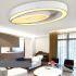 Zeige Details für (EU Lager) LED Deckenleuchte Modern aus Acryl Oval Weiß im Schlafzimmer