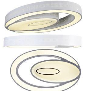 Zeige Details für (EU Lager) Versandkostenfrei LED Deckenleuchte Modern aus Acryl Oval Weiß im Schlafzimmer