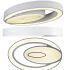 Zeige Details für (EU Lager)LED Deckenleuchte Modern Acryl Oval Weiß im Wohnzimmer