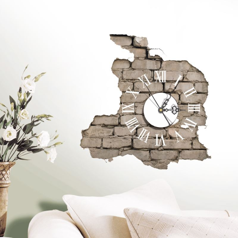 3d wanduhr modern design lautlos. Black Bedroom Furniture Sets. Home Design Ideas
