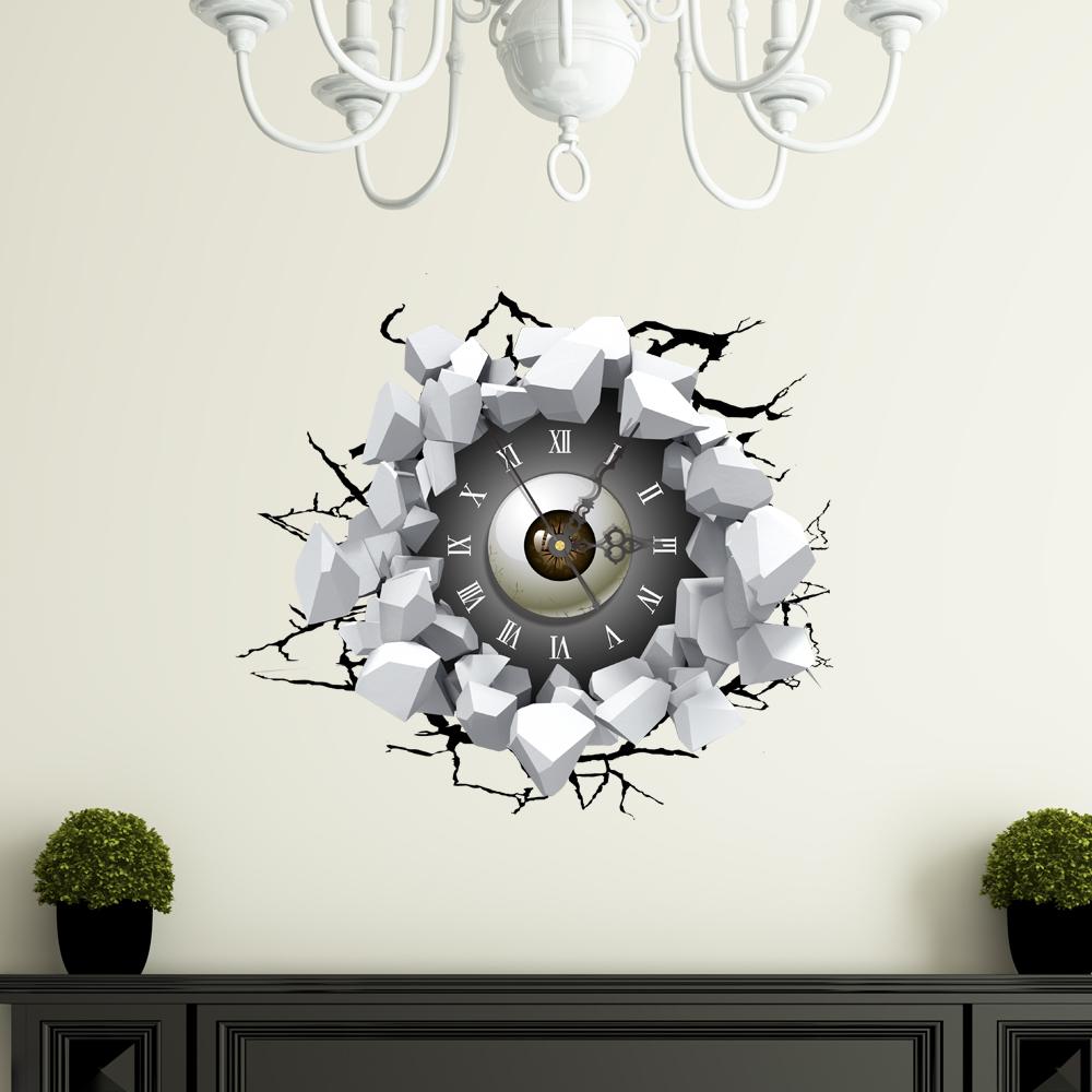 3d wanduhr modern lautlos augen design. Black Bedroom Furniture Sets. Home Design Ideas