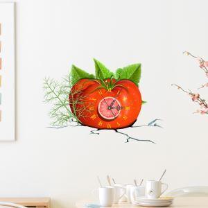 (EU Lager)3D Wanduhr Modern Tomate Design Lautlos