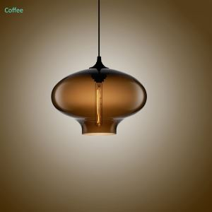 (EU Lager)Hängeleuchte Glas Modern Oval Design
