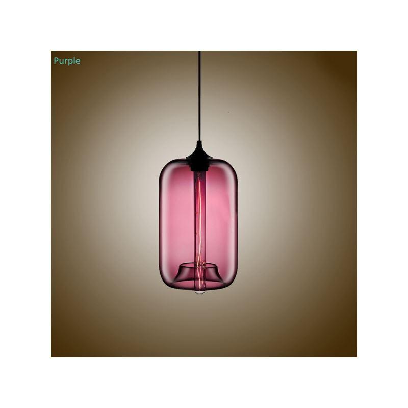 glas pendelleuchte modern in blase design im esszimmer. Black Bedroom Furniture Sets. Home Design Ideas