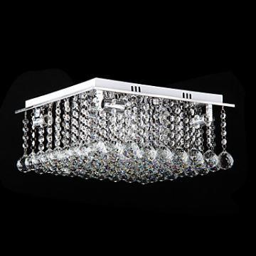beleuchtung deckenleuchten eu lager kristall deckenleuchte moderne pendelleuchte eckig 4. Black Bedroom Furniture Sets. Home Design Ideas