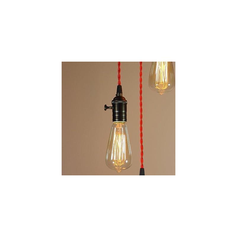 beleuchtung deckenleuchten pendelleuchten retro pendelleuchte gl hbirne design 3 flammig. Black Bedroom Furniture Sets. Home Design Ideas