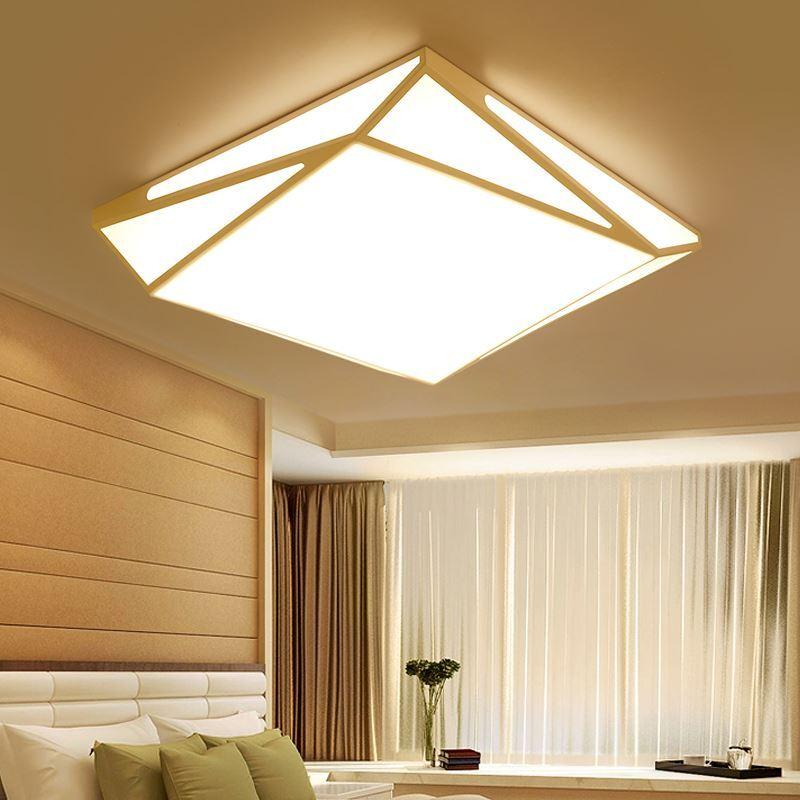 beleuchtung deckenleuchten eu lager led deckenleuchte modern wei. Black Bedroom Furniture Sets. Home Design Ideas