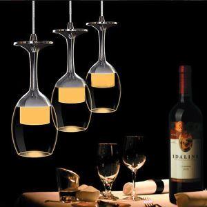 (EU Lager)LED 9W Hängeleuchte Weinglas Design 3-flammig