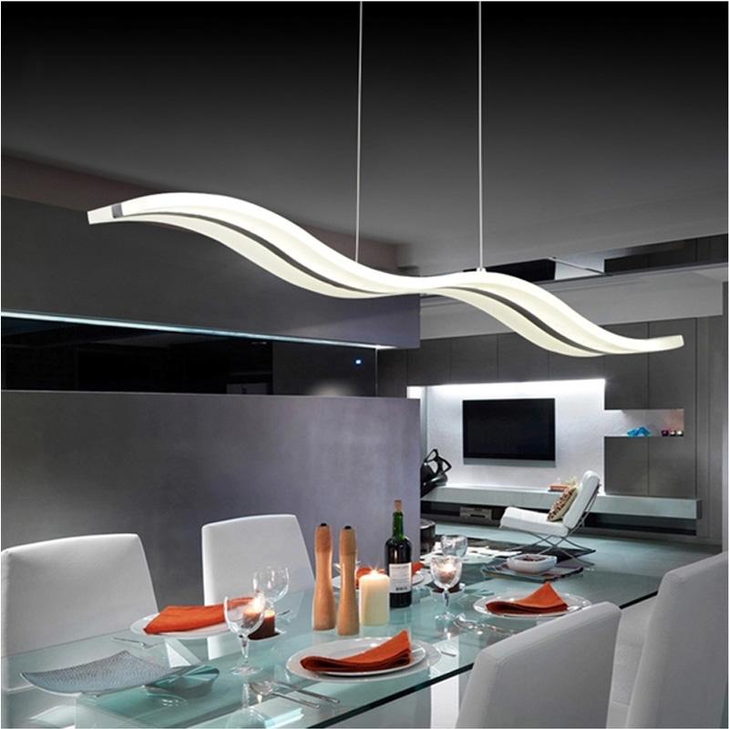 EU Lager) LED Pendelleuchte Modern Stilvoll aus Acryl im Wohnzimmer