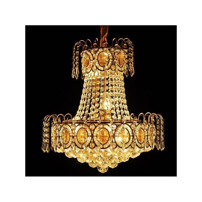 Pendelleuchte kristall modern gold 8 flammig im wohnzimmer - Esszimmerleuchten modern ...