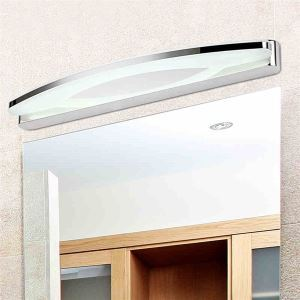 (EU Lager)Spiegelleuchte Chrom LED Wandleuchte Acryl Lampenschirm