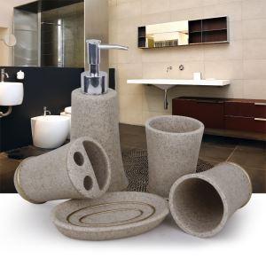 (EU Lager)Modern Badset 4/5-tlg. Marmor Design aus Resin