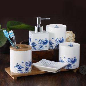 (EU Lager)Klassische Badset 4/5-teilig aus Keramik