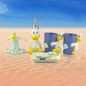 (EU Lager)Cartoon Bad-Accessoire-Set 5-teilig Donald Duck Design aus Resin