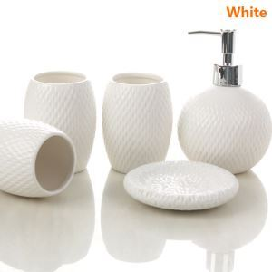 (EU Lager)Moderne Bad-Accessoire-Set 5-teilig aus Keramik