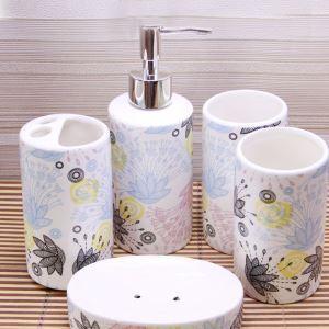 (EU Lager)Landhaus Badset 4/5-teilig aus Keramik