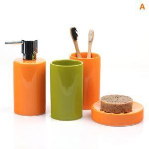 (EU Lager)Moderne Badset 4-teilig Rund aus Keramik