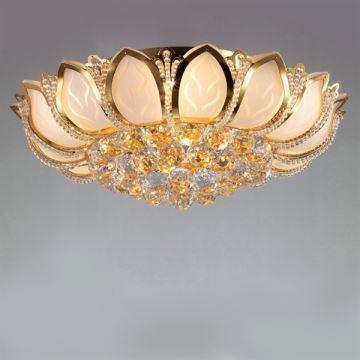 beleuchtung deckenleuchten eu lager deckenleuchte kristall modern gold. Black Bedroom Furniture Sets. Home Design Ideas