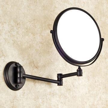 kosmetikspiegel antik messing bad accessoires schwarz. Black Bedroom Furniture Sets. Home Design Ideas