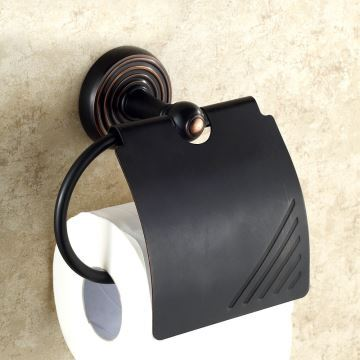 eu lager papierrollenhalter mit deckel antik messing bad accessoires schwarz. Black Bedroom Furniture Sets. Home Design Ideas