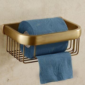 Badzubehör - WC Rollenhalter - (EU Lager)WC-Papierhalter Antik ...