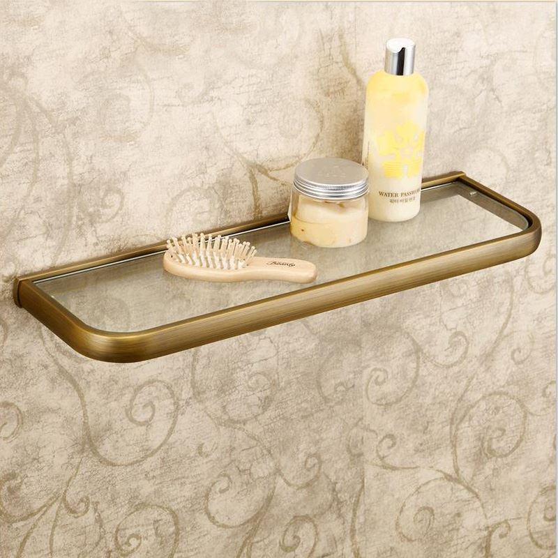 badzubeh r bad handtuchablage eu lager glasablage wand antik messing bad accessoires. Black Bedroom Furniture Sets. Home Design Ideas