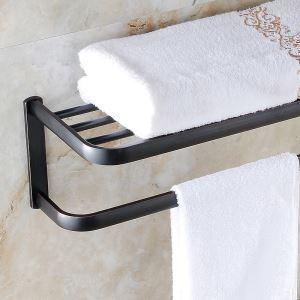 (EU Lager)Handtuchhalter Antik Messing Bad Accessoires Schwarz