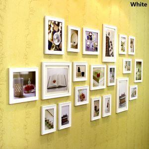 (EU Lager)Galerie Bilderrahmen Set Europäischer Stil aus Holz-20er Set
