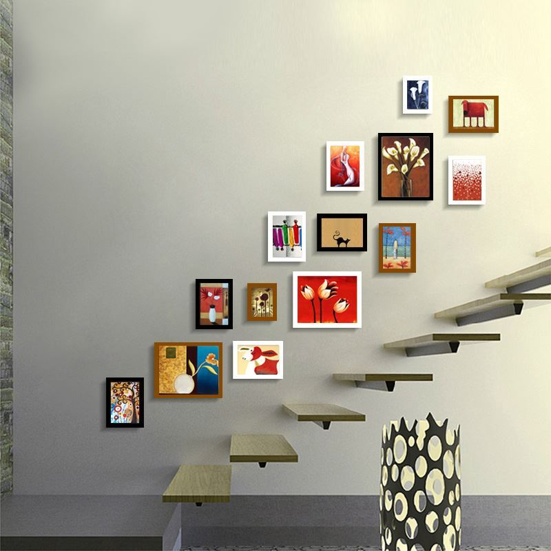 Moderne bilderrahmen set aus holz 14er set - Moderne bilderrahmen ...