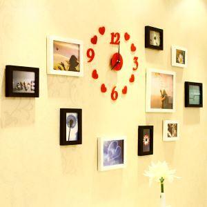 (EU Lager)Bilderrahmen Collage Landhaus Stil aus Holz-10er Set