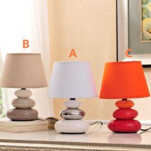 (EU Lager)Tischleuchte Modern Design aus Keramik im Wohnzimmer Bett