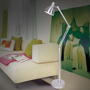 beleuchtung wohnr ume wohnzimmerleuchten eu lager stehlampe modern design silber im. Black Bedroom Furniture Sets. Home Design Ideas