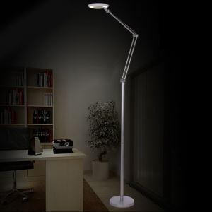 (EU Lager)Stehlampe Modern Design Silber im Wohnzimmer Lesezimmer