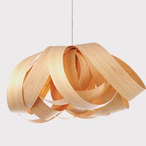 (EU Lager)Landhaus Hängeleuchte Holz Floral Design 1-flammig
