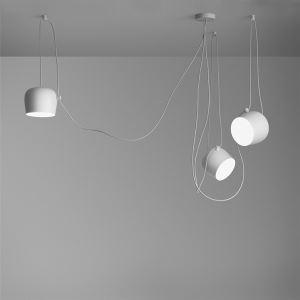 Modern Pendelleuchte aus Metall in Weiß 3-flammig