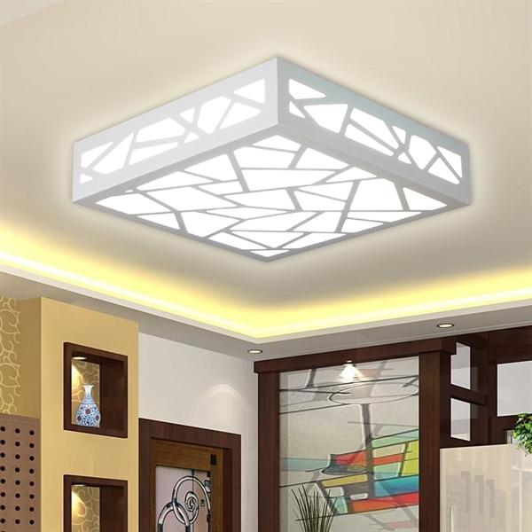 beleuchtung deckenleuchten eu lager led deckenleuchte eckig wei. Black Bedroom Furniture Sets. Home Design Ideas