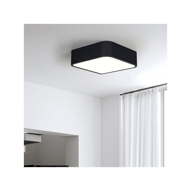 beleuchtung deckenleuchten eu lager led deckenleuchte eckig 1 flammig. Black Bedroom Furniture Sets. Home Design Ideas