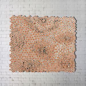 Abstraktes Leinwandbild Digitaldruck-Papierrolle Braun ohne Rahme