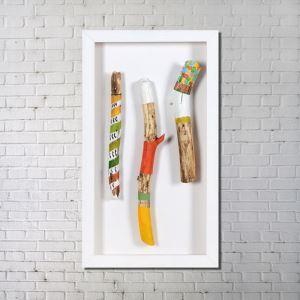 Leinwandbild Holz Fun Digitaldruck ohne Rahme-E