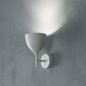 Wandleuchte Weinglas Design 1-Flammig Weiß