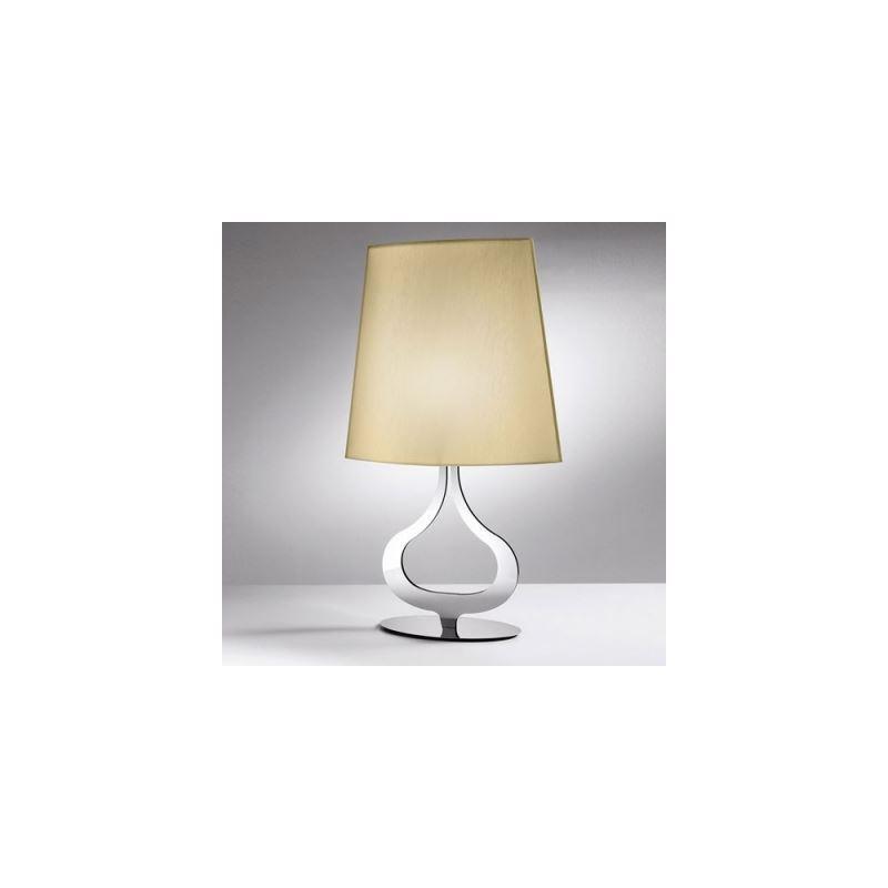 elegante tischleuchte modern design mit stoff schirm und. Black Bedroom Furniture Sets. Home Design Ideas