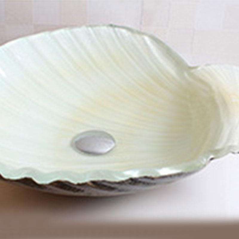 Modern Glas Waschbecken Muscheln Design Mit Wasserfall Wasserhahn